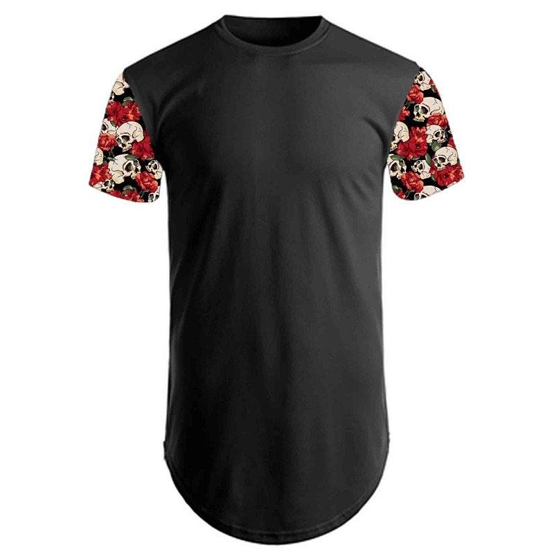 camisetas long line lisas ou personalizadas