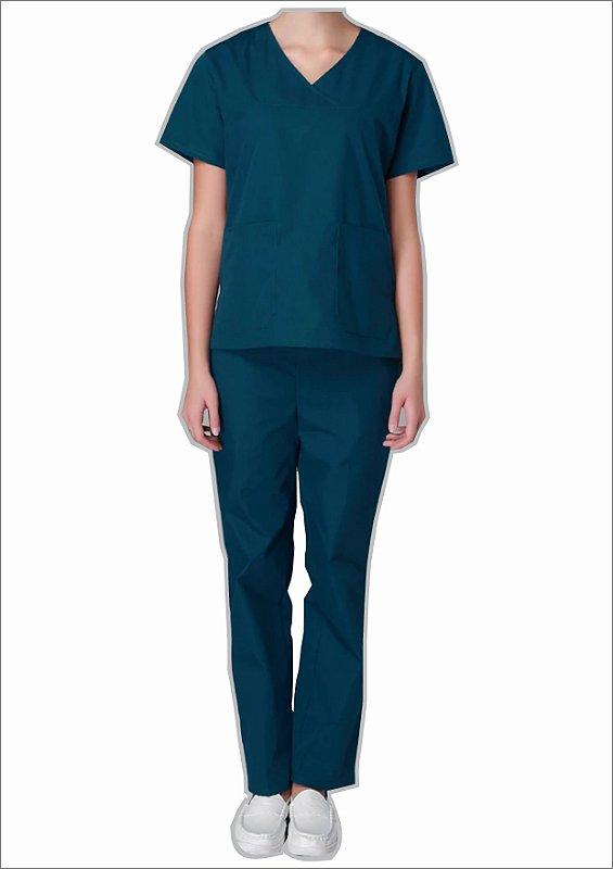 Uniforme Centro Cirúrgico modelo pijama (Unissex) - Blusa e Calça