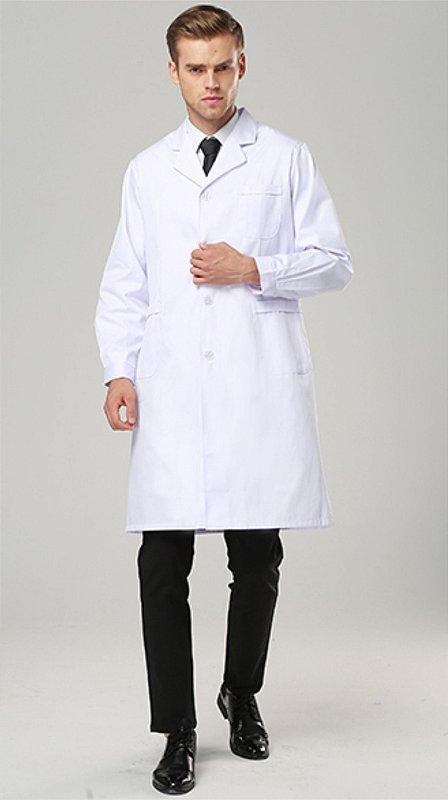 Jaleco masculino manga longa tecido gabardine