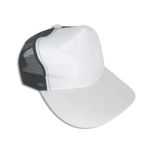 1f22553317519 Boné Americano Cabeça frente e Aba Branca para Sublimação e Tela Preta em  Microfibra Adulto (