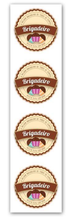 Etiqueta Adesiva Brigadeiro Cod 6537 C 20 Un Miss Embalagens