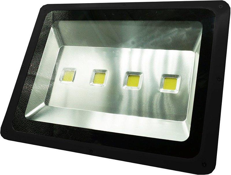REFLETOR LED 200 WTS BRANCO FRIO / CARCAÇA PRETA