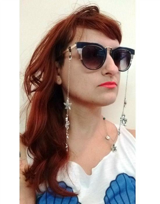 ecd7d8d37a81b Salva Óculos Corrente Fundo do Mar - Bruna Pepper Moda Retrô Moderna