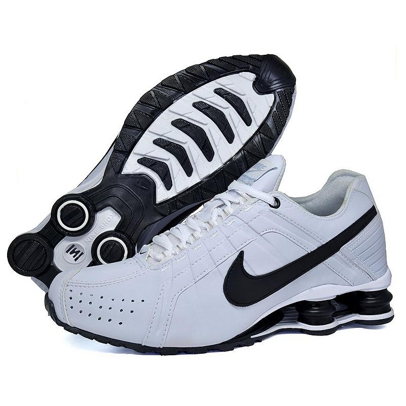 feae390b83 ... Tênis Nike Shox Junior Masculino Branco e Preto - NSZ Tenis ...