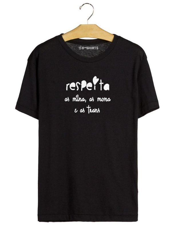 Camiseta Feminista - Respeita as Mina