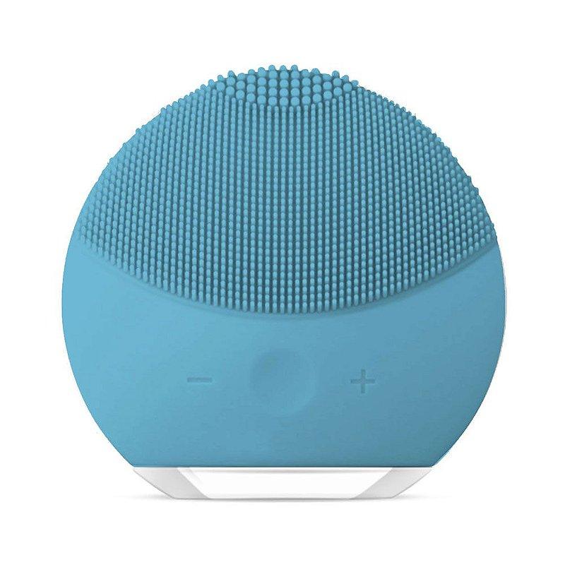 Esponja Elétrica Forever de Limpeza de pele Facial Massageadora de Silicone Azul