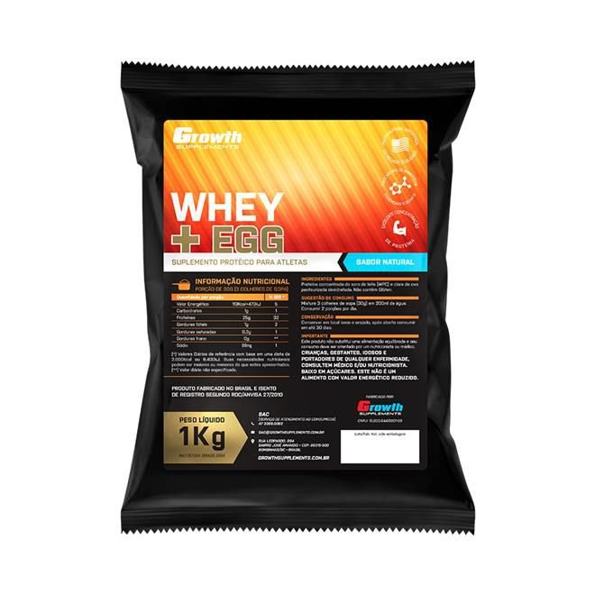 6b2986b7f Whey Protein Isolado (1KG) - Growth Supplements - Ideal Fitness