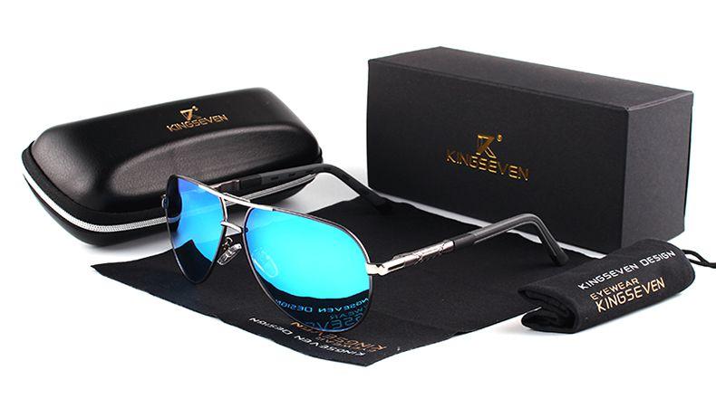 Oculos de sol masculino KINGSEVEN AZUL - My Crush Shopping 62da5754f4