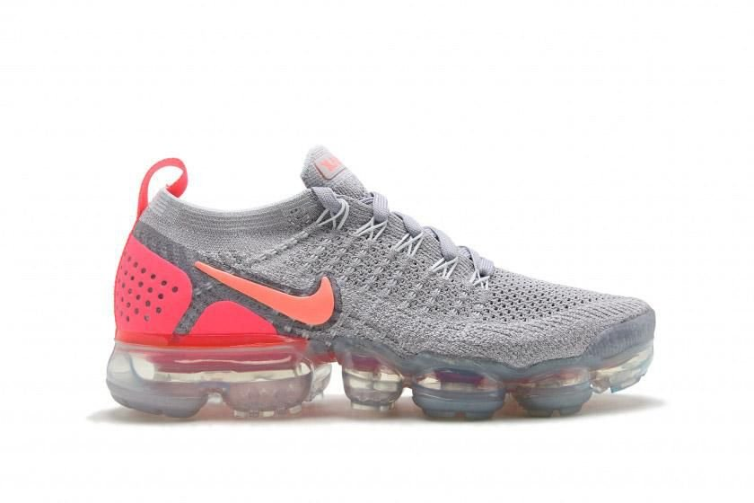 huge selection of cf4ed 97a8b Tênis Nike Air Vapor Max Flyknit 2 - Atmosphere Grey Crimson Pulse