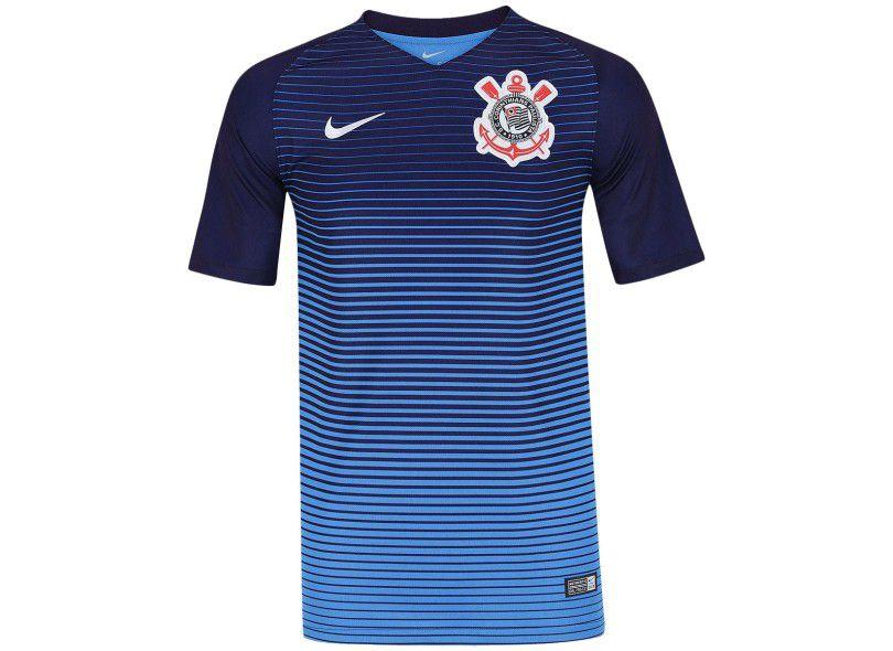Camisa Corinthians III 17 18 S Nº Torcedor Nike - Azul  2f2ff3b422c00