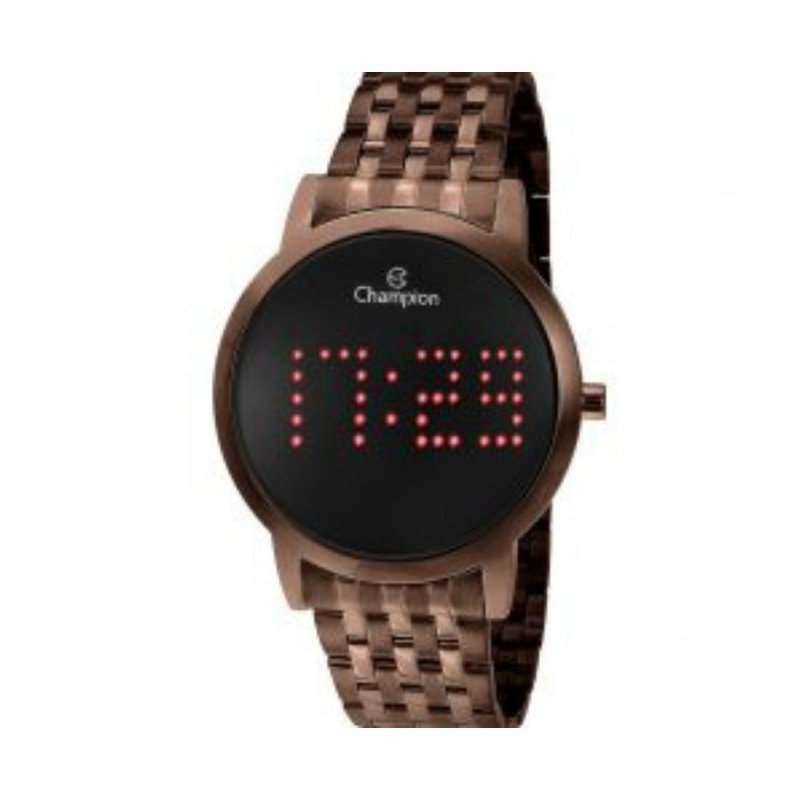 Relogio Feminino Champion Chocolate Digital CH40008R
