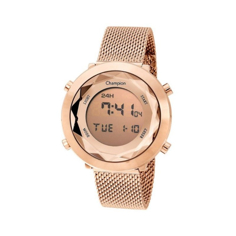 Relogio Feminino Digital Rose Gold Fashion Champion Original+NF