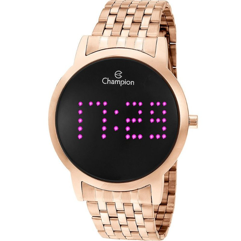 Relógio Feminino Digital Led Roxo Rose Champion Original NF