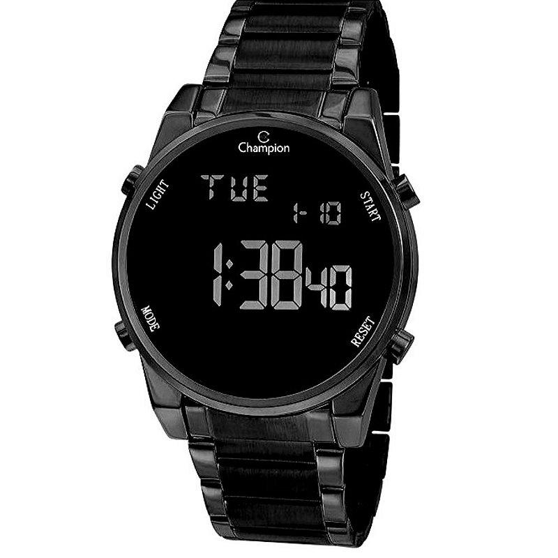 Relógio Feminino Preto Champion Digital Comum + NF
