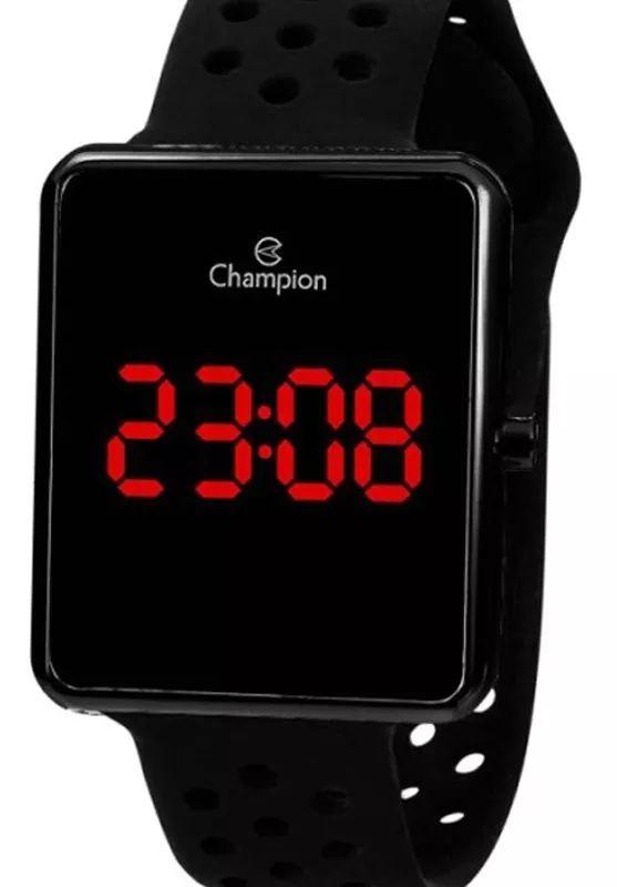 Relógio Feminino Grafite Champion Digital Led Silicone + NF
