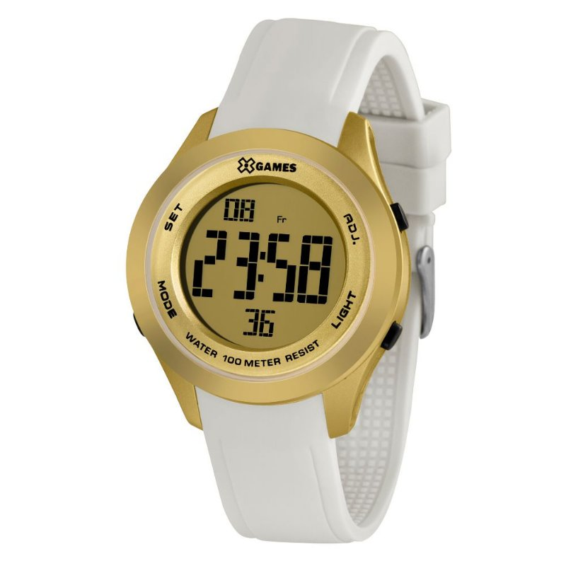 Relógio Feminino Dourado e Branco Digital X-Games Original