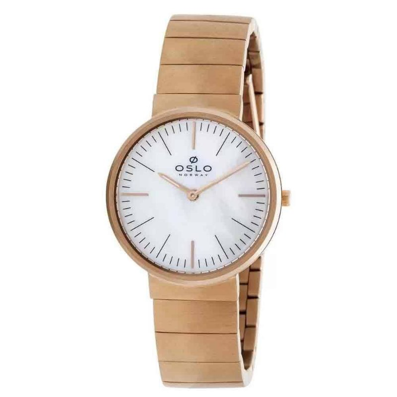 Relógio Feminino Rose Oslo Slim Fundo Madrepérola Original