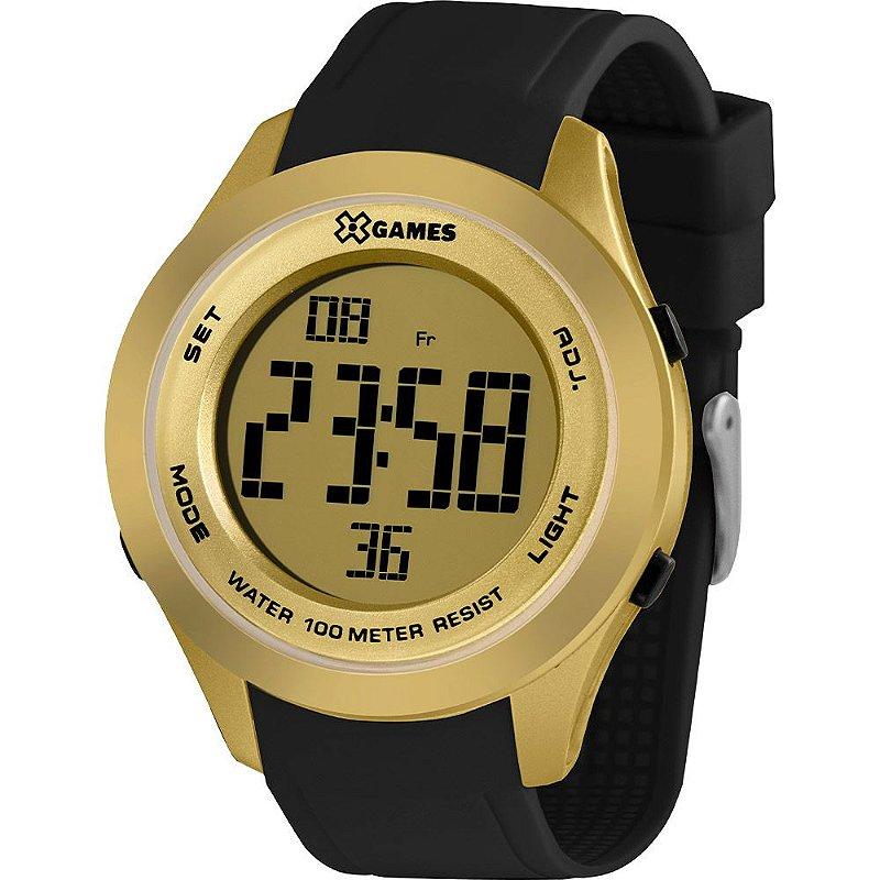 Relógio Feminino Preto e Dourado Digital X-Games Original