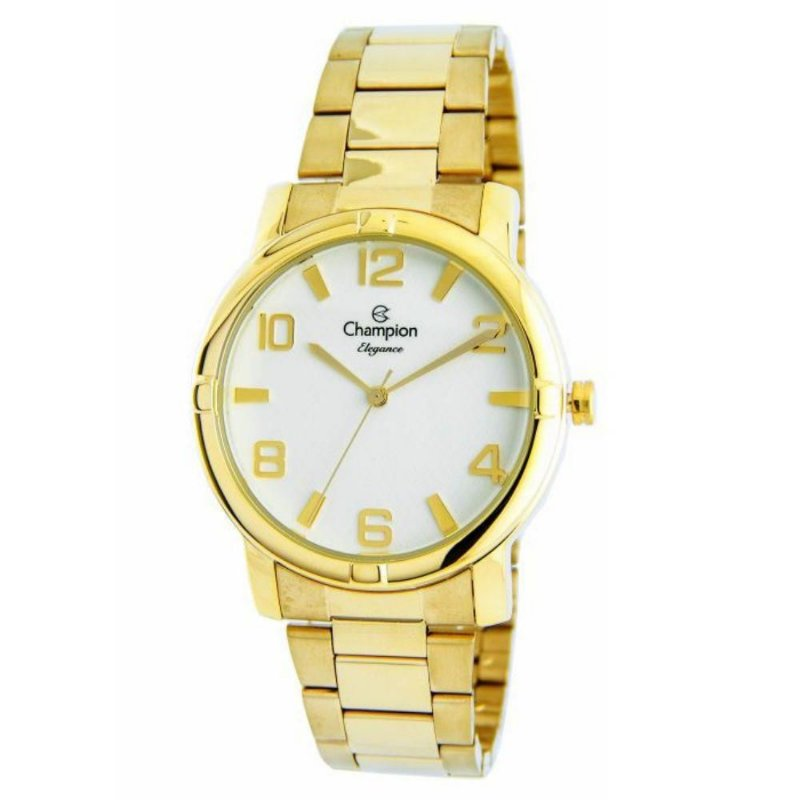 Relogio Feminino Champion Dourado Elegance CN25181H