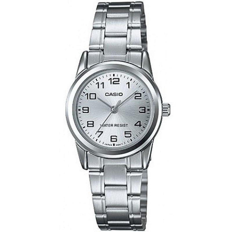 Relógio Feminino Prata Pequeno Casio Fundo Prata Original