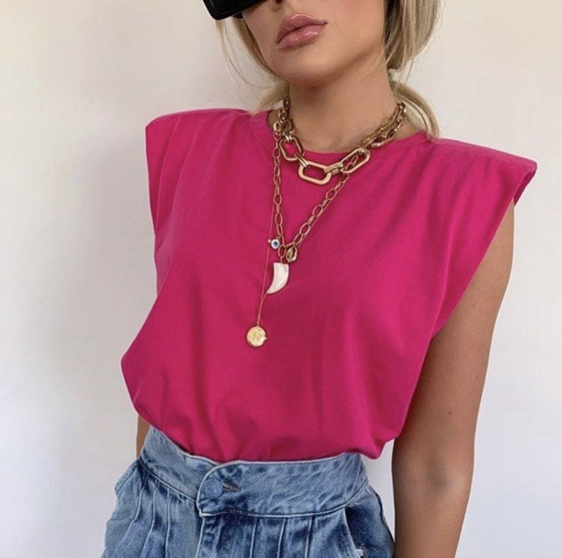 Muscle Tee - Pink - Madame Ninna , loja de calças flare , boutique ...