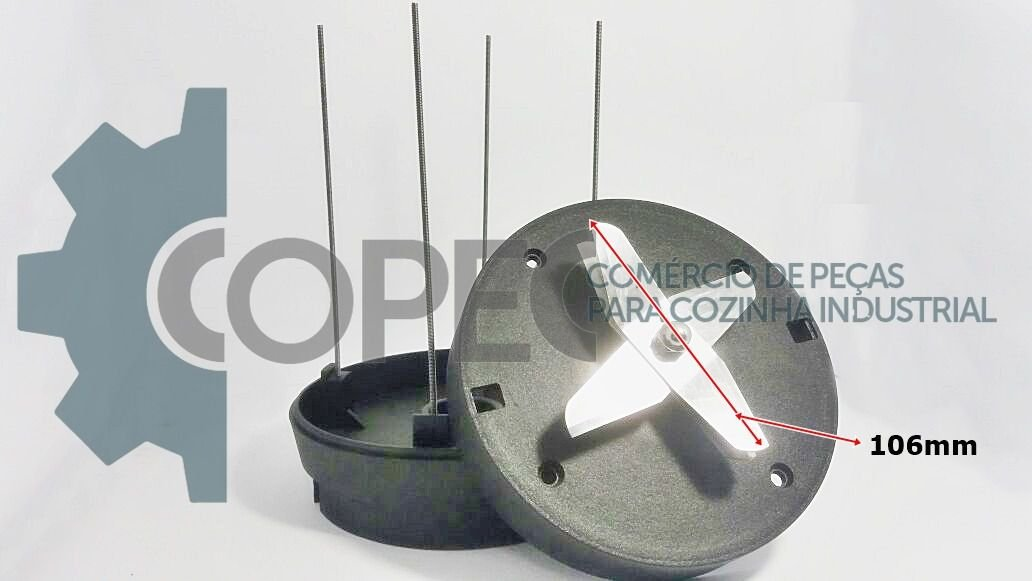 Kit Base Copo Suporte Copo Liquidificador 4 a 10L Vitalex