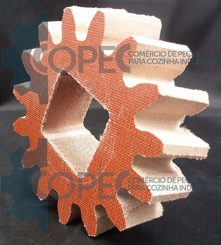 Engrenagem Fibra Eixo Quadrado Cilindro Paziani Camargo FC2
