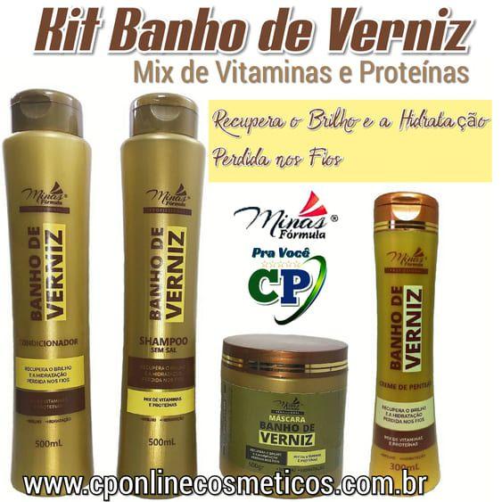 Kit Completo Banho De Verniz Minas Formula Cp Online