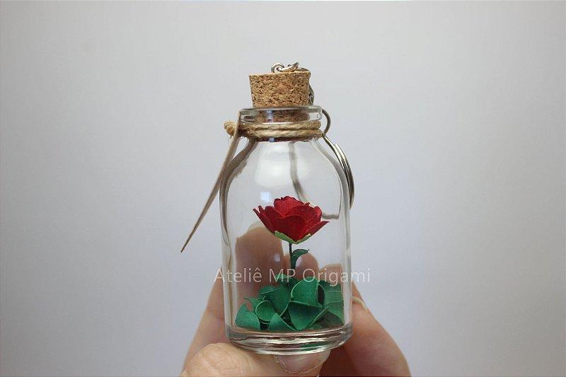 Lembrancinha casamento flor na garrafinha chaveiro