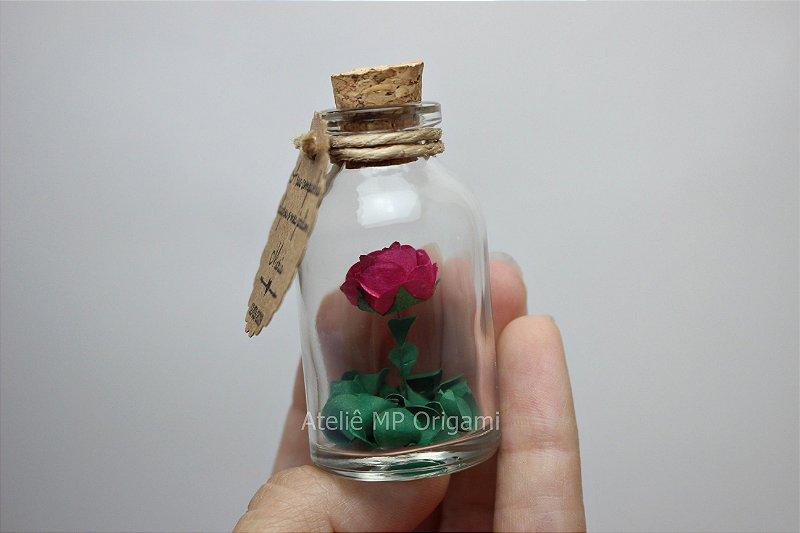Lembrancinha casamento flor na garrafinha