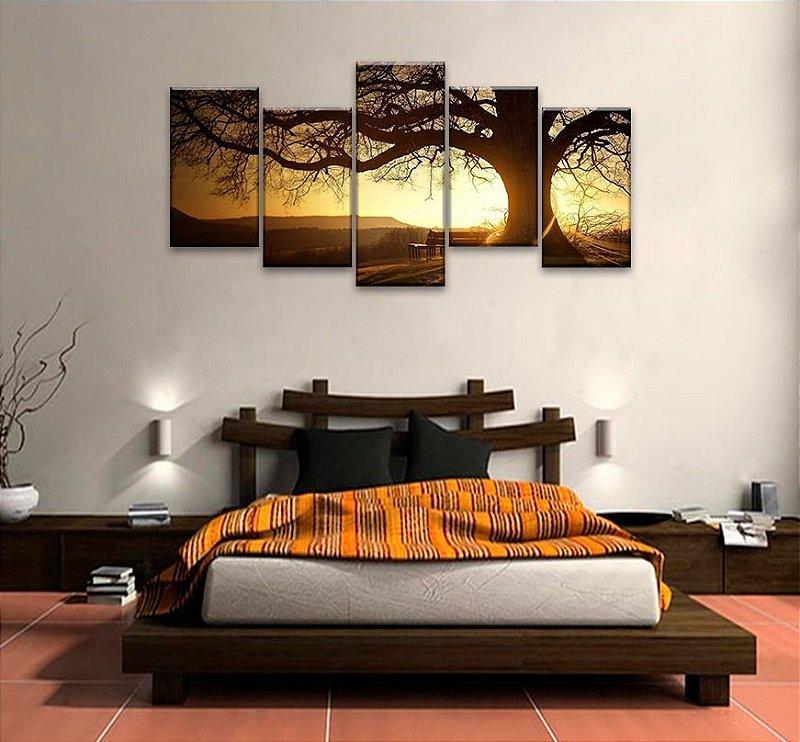 Quadro Decorativo Sala  Paisagen Sol