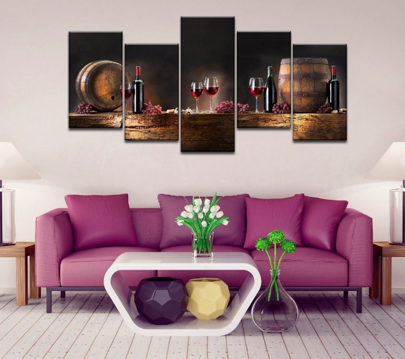 Quadro decorativo sala de jantar visita vinho barril