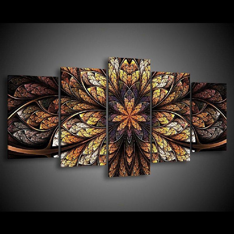 Quadro decorativo sala de jantar flor cimetrica