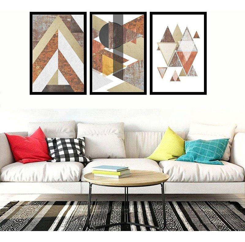 Quadro Mosaico Abstrato Moderno Chegada Quarto Sala