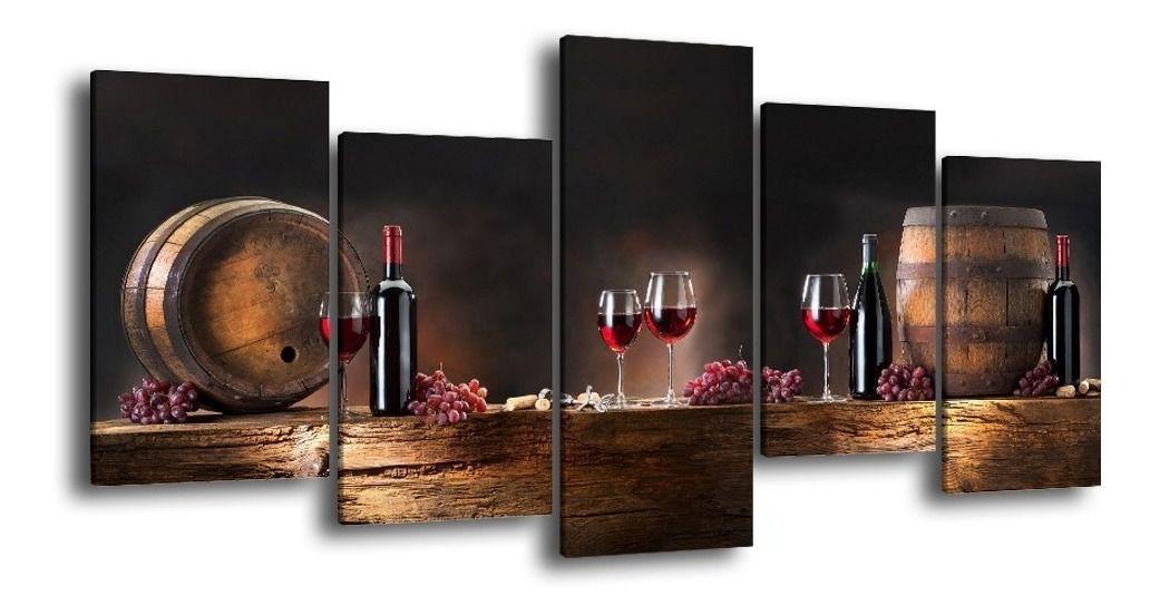 Quadro decorativo sala de jantar  vinho barril