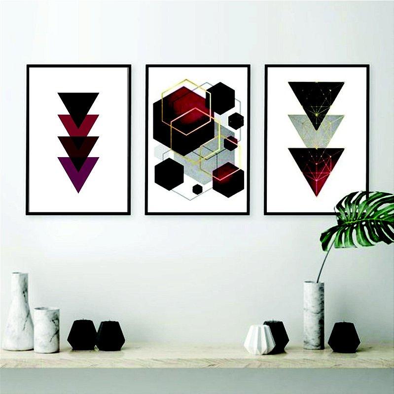 Quadro Decorativo Geométrico quarto sala
