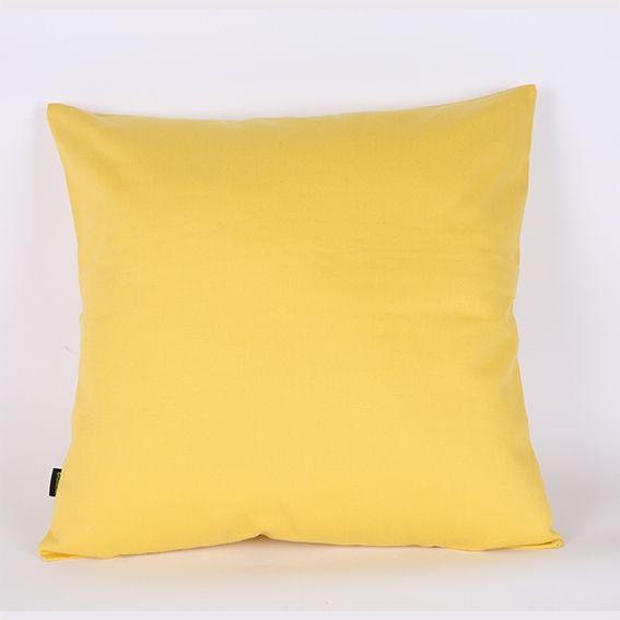 Capa de Almofada Sarja Lisa Amarela- 45 x 45 cm