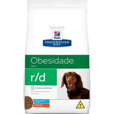 Ração Hills Canine Prescription Diet R/D Pedaços Pequenos para Cães Obesos - 7,5Kgs