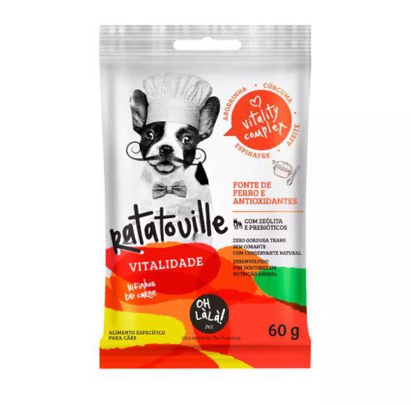 Snack Oh Là Là Ratatouille para Cães Sabor Carne 60g