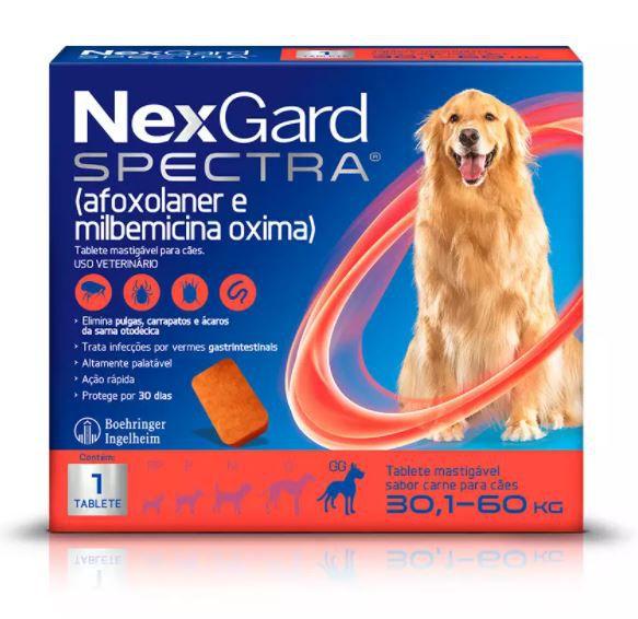 Antipulgas e Carrapatos NexGard Spectra para Cães de 30,1 a 60kg