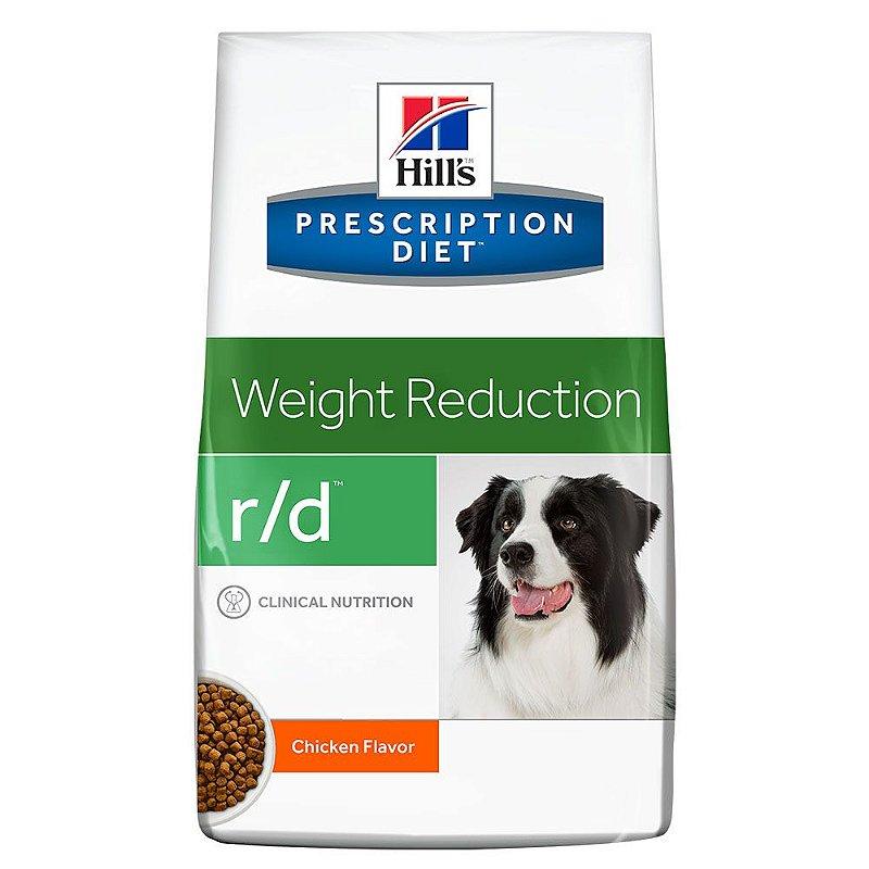 Ração Hills Prescription Diet R/D Redução De Peso Para Cães Adultos Obesos