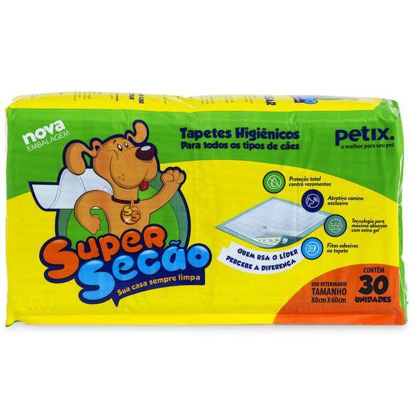 Super Secão Tapete Higiênico Petix para Cães - 30 Unidades