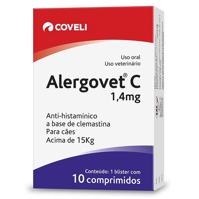 Alergovet Coveli para Cães e Gatos Acima 15kg 10 Comprimidos