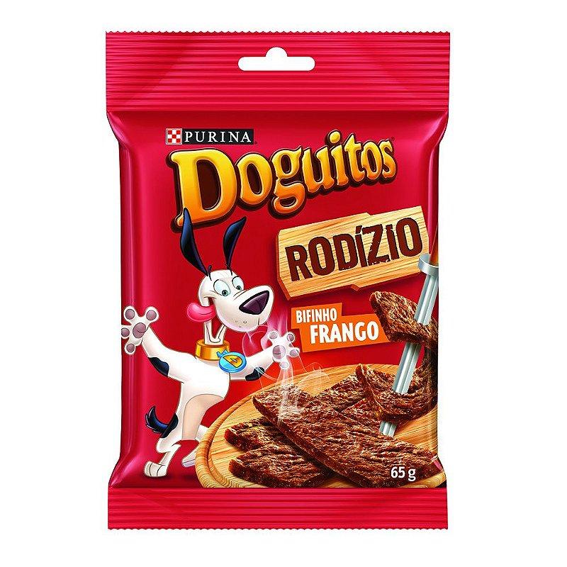 Petisco Doguitos Rodízio para Cães Adultos e Filhotes Sabor Frango - 65g