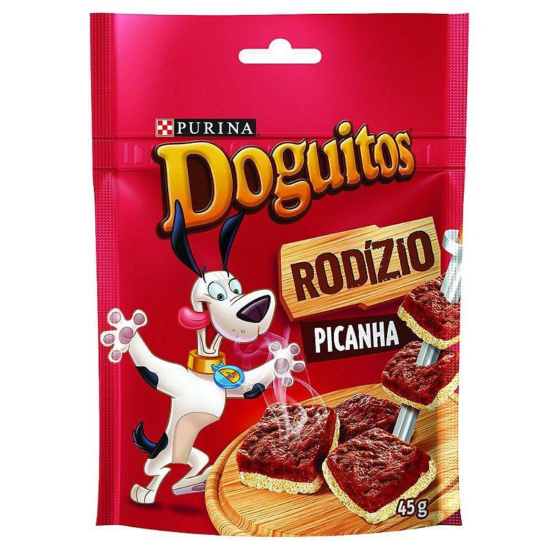 Petisco Doguitos Rodízio para Cães Adultos e Filhotes Sabor Picanha - 45g