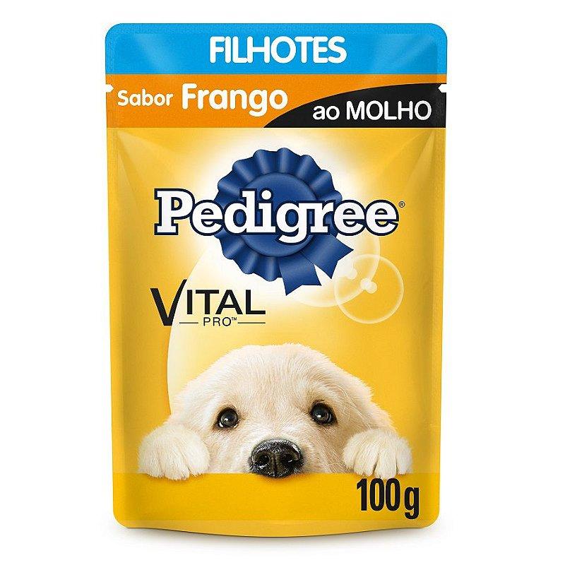 Ração Úmida Pedigree Sachê Vital Pro para Cães Filhotes Sabor Frango - 100g