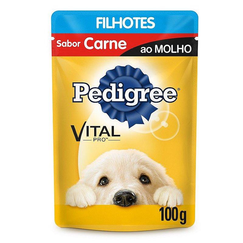 Ração Úmida Pedigree Para Cães Filhotes Sachê Sabor Carne - 100g