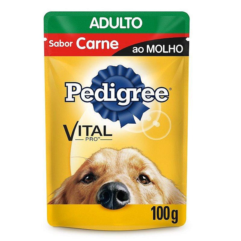 Ração Úmida Pedigree Para Cães Adultos Sachê Sabor Carne - 100g