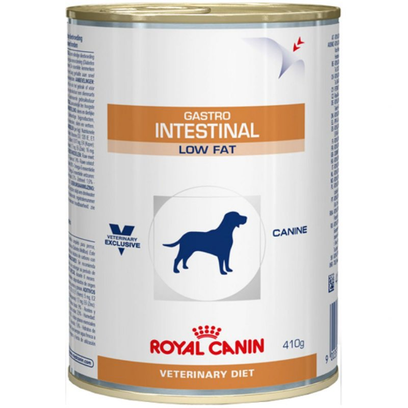 Ração Úmida Royal Canin Lata Veterinary Gastro Intestinal Low Fat - Cães Adultos - 410g