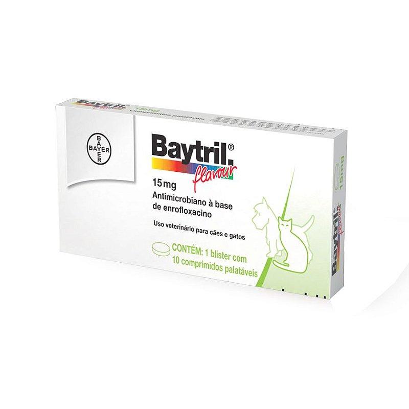 Baytril Flavour 15mg com 10 comprimidos